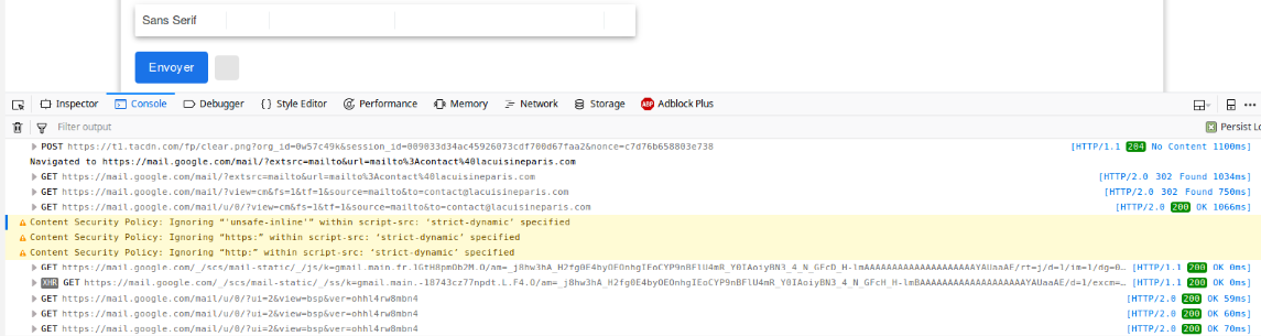 Scrap URL (http) from website that use JS to redirect to a